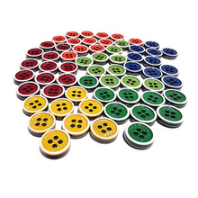100PCS Colorful Resin Buttons Solid 5Colors 4 Holes Sewing DIY handmade clothing Fashion Button T-shirt