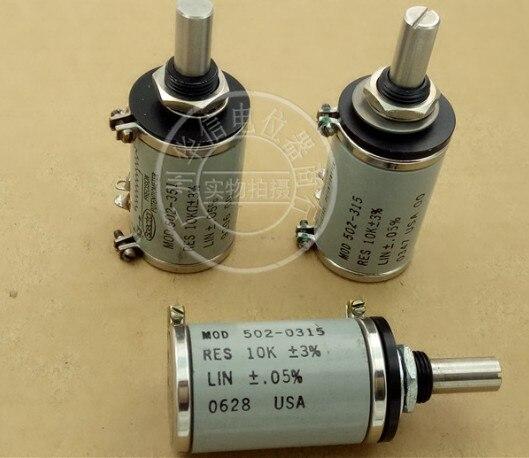 [VK] utilisé SPECTROL MOD 502-0315 10K ± 0.05% 10 commutateur de potentiomètre multi-tours