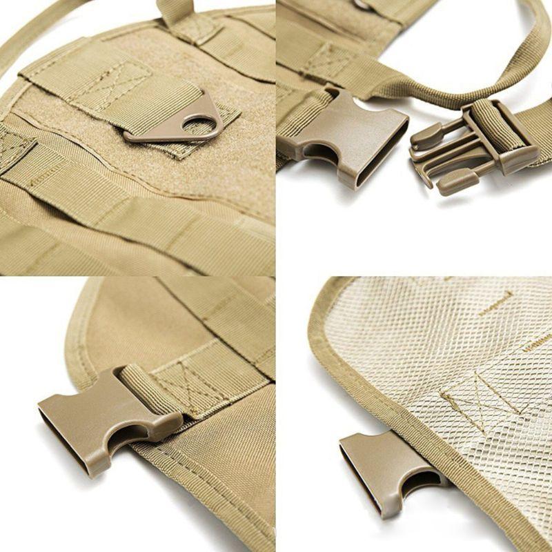 Image 5 - Tactical Dog Training Vest Harness Detachable Pouches Military K9  Harness Large Dog Training EquipmentDog Vests