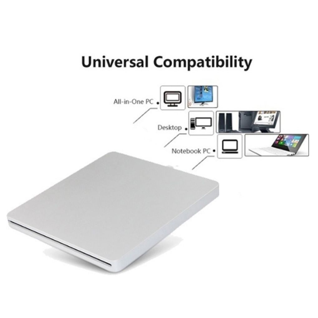 External USB 3.0 Slot DVD Burner External Mobile Disc Player Laptop Computer Optical Drive 6