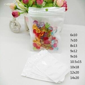 100 шт Пластиковый мешок с молнией подарок многоразовый герметизируемый пакет для одежды половина чистый прозрачный пластик сумки с подвеск...