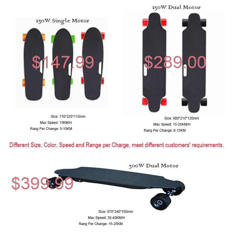 Ship from USA Europe Four Wheel Electric Skateboard Wireless Remote controller Scooter Plate Board hoverboard unicycle (6)