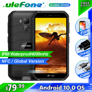Ulefone Armor X7  Android 10 Rugged Smartphone IP68 Waterproof Cell Phone 2GB 16GB Quad-core NFC 4G LTE Global Mobile Phone