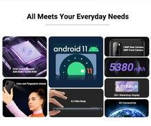 Blackview a70 android 11 smartphone 5380mah grande bateria octa núcleo 3gb ram + 32gb rom 6.517 Polegada exibição 13mp câmera 4g moible telefone