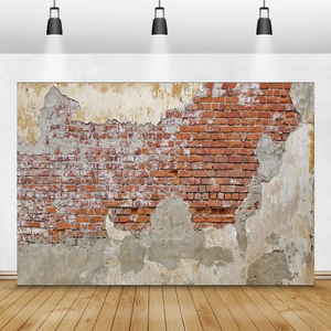 Image 4 - Laeacco Brick Wall Backdrops Vintage Grunge Baby Portrait Photography Backgrounds Birthday Party Photocall For Photo Studio Prop