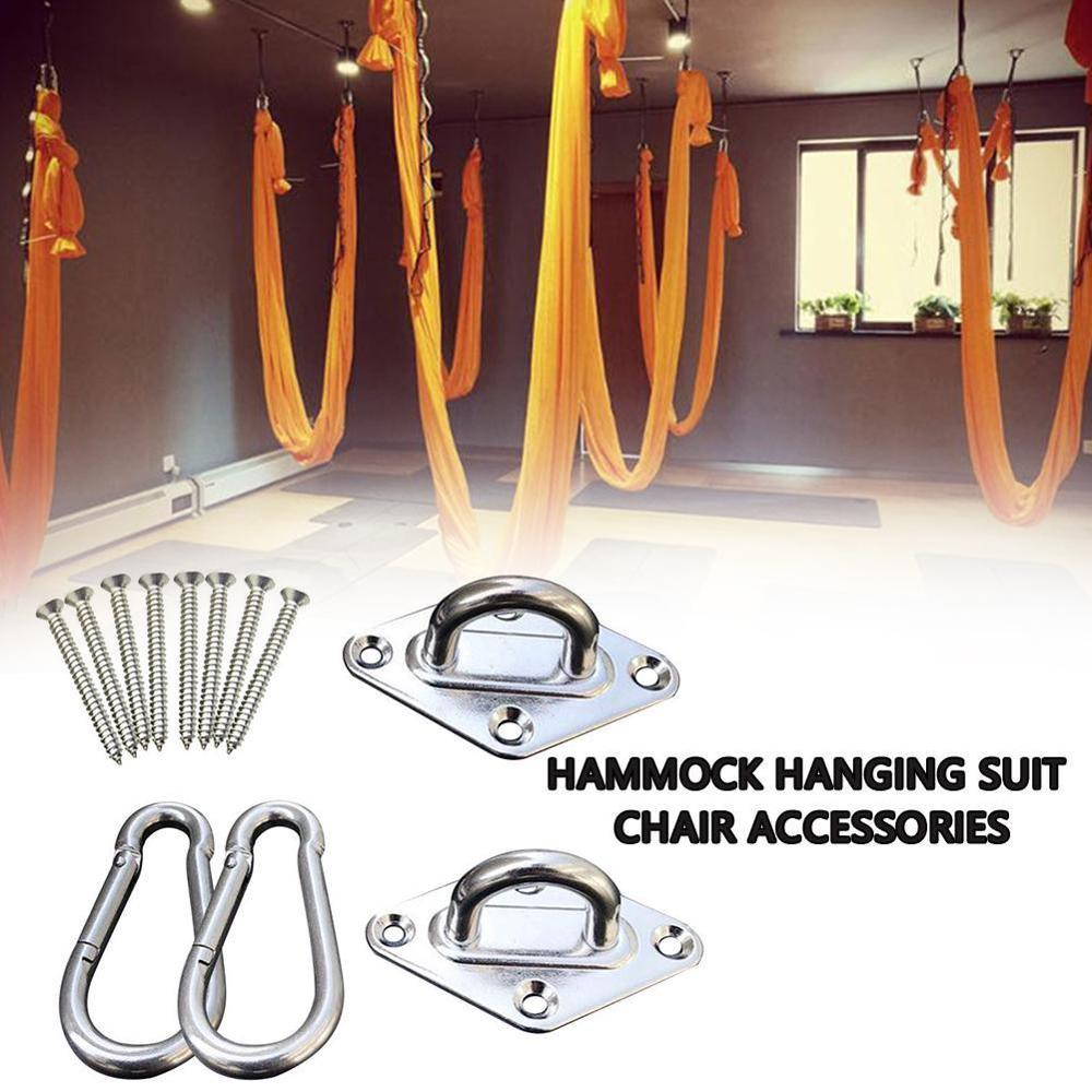 EASY-Swivel Hooks Accessories Fixed Disc Spring Hook For Hammock Swing Chairs Stainless Steel Hanging Seat Accessories Kit