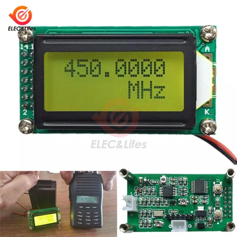 DC 9-12V 1 MHz-1,2 GHz RF contador de frecuencia Digital PLJ-0802-E LCD0802 medidor LCD para radio 1-1200mhz Kit de bricolaje