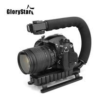 U C 모양의 홀더 그립 비디오 DSLR 용 휴대용 안정기 Nikon Canon Sony 카메라 및 Gopro U 용 휴대용 SLR Steadicam