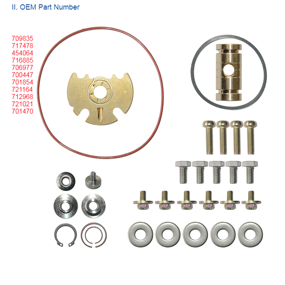 O Ring Car Easy Install Metal Journal Bearing Durable Assortment Tool Turbocharger Repair Kit For <font><b>Garrett</b></font> GT15-25 <font><b>GT1749V</b></font> image