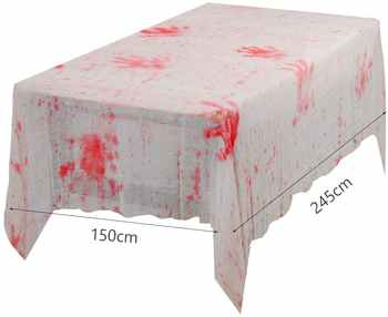 METABLE 10PCS Halloween Table Cloth Blood Cover Scary Hand Print Horror House Decoration Spooky Entertainment Themed Party
