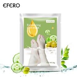 EFERO 1Pair Remove Dead Skin Foot Mask Exfoliating Scrub Pedicure Spa Socks Foot Peel Replenish Water Feet Care TSLM1