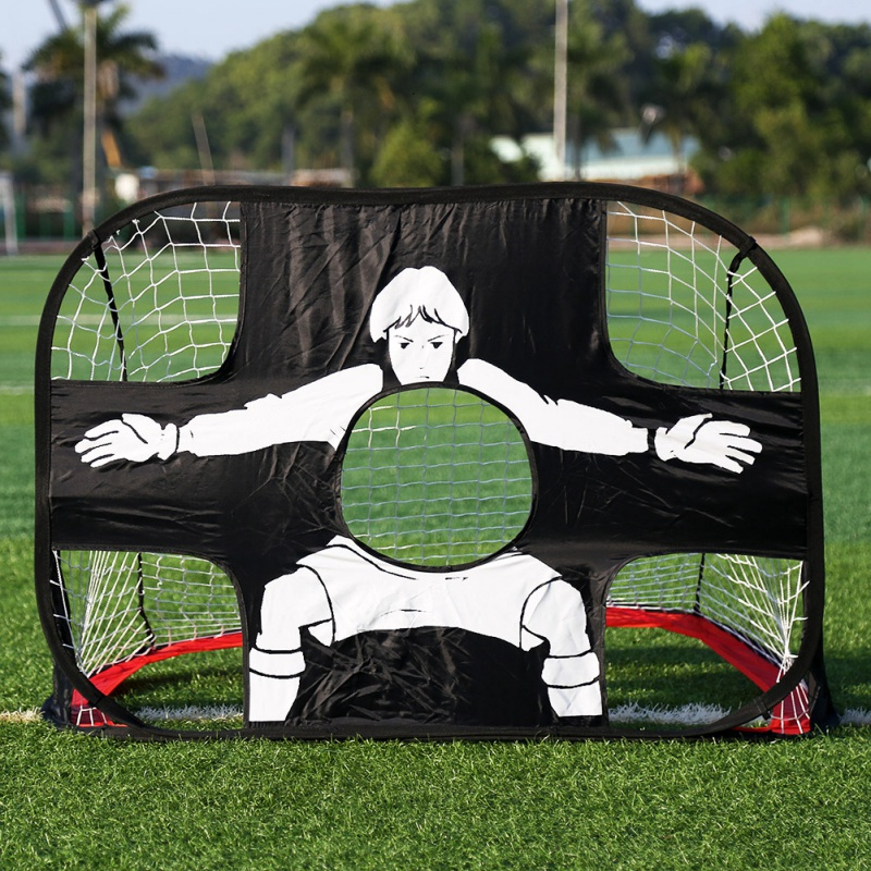 2 in 1 Kids Soccer Goal Portable Kids Soccer Net Football Practice Goal for Indoor/Outdoor Score Football Backyard Play
