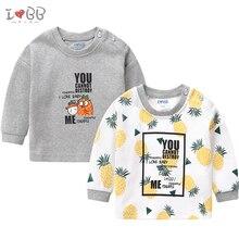תינוק נערי חולצה ארוך שרוול Tees בגדי ילד חם למעלה חמוד עבור 6 24 חודשים