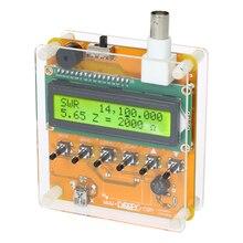 Цифровой коротковолновый Антенный Анализатор метр тестер для радиостанции Q9 1~ 60 м для тестирования стоящего сопротивления волны емкость MR100