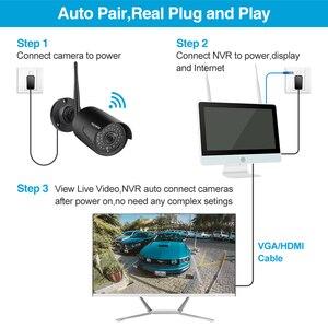 "Image 3 - Techege 8CH 1080P אלחוטי NVR ערכת 12 ""LCD צג 2MP Wifi IP מצלמה אודיו טלוויזיה במעגל סגור מצלמה אבטחת בית מערכת ערכת מעקב"