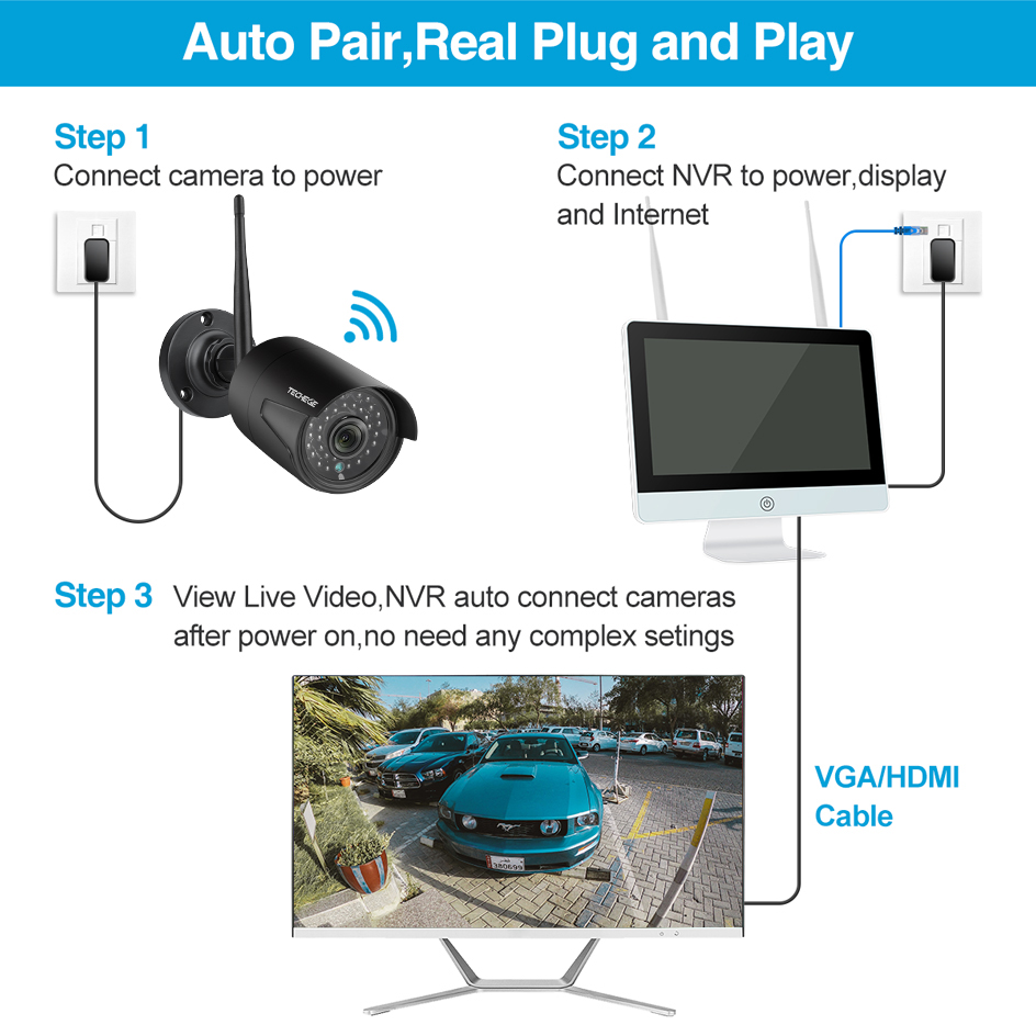 cheapest security camera system CCTV kit DVR Cameras HD 4CH 1080N 5in1 DVR Kit 2pcs 720P 1080P AHD Camera 2MP P2P Video surveillance Set