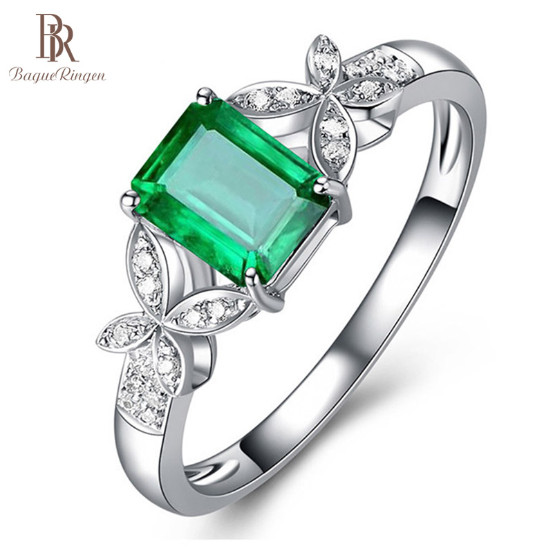 Bague Ringen Rings For Women Silver 925 Jewelry Rectangle Zircon Butterfly Coloured Gemstones Female Open Ring Festival Gift