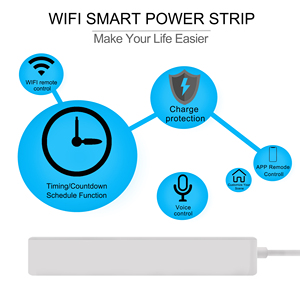 Image 2 - Tuya Wifi כוח רצועת 3 איחוד אירופי חכם שקעי תקע עם 4 יציאות USB חכם בית App קול אלחוטי שלט רחוק עובד עם Alexa