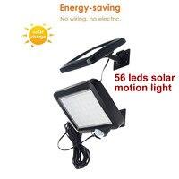 56 leds solar licht split solar panel motion sensor für garten garage terrasse laterne sicherheit deck zaun decor drinnen 5M kabel-in Solarlampen aus Licht & Beleuchtung bei