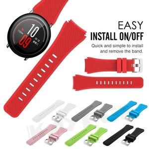 Image 1 - צבעוני שעון להקת רצועת לxiaomi Huami Amazfit קצב סיליקון צמיד יד בנד עבור Amazfit 2/2S סטרטוס קצב שעון רצועה