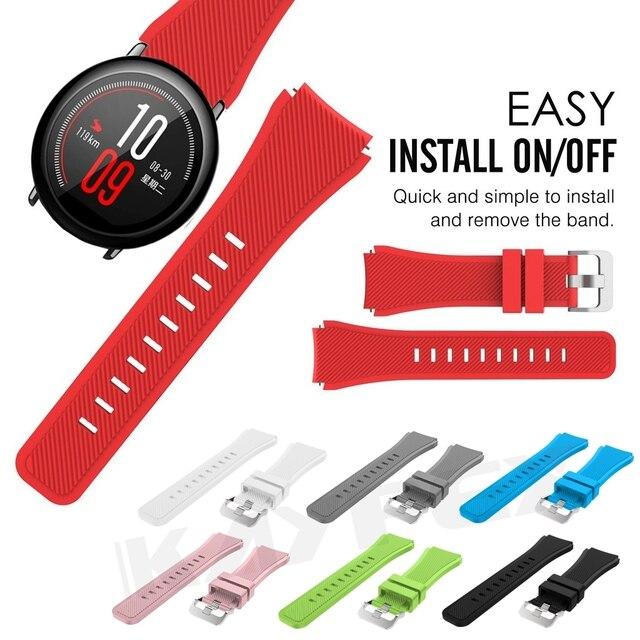 צבעוני שעון להקת רצועת לxiaomi Huami Amazfit קצב סיליקון צמיד יד בנד עבור Amazfit 2/2S סטרטוס קצב שעון רצועה