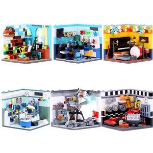 Image 2 - XINGBAO 01401/02 Genuine Building Blocks The Living House Set Building Bricks Educational Toys blocks With Figure toys