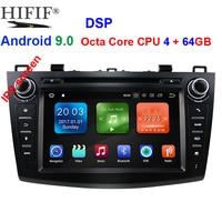 IPS 8 2 din car dvd radio stereo Android 9.0 GPS for mazda 3 mazda3 2010 2013 Wifi Bluetooth multimedia tape recorder navi DAB+