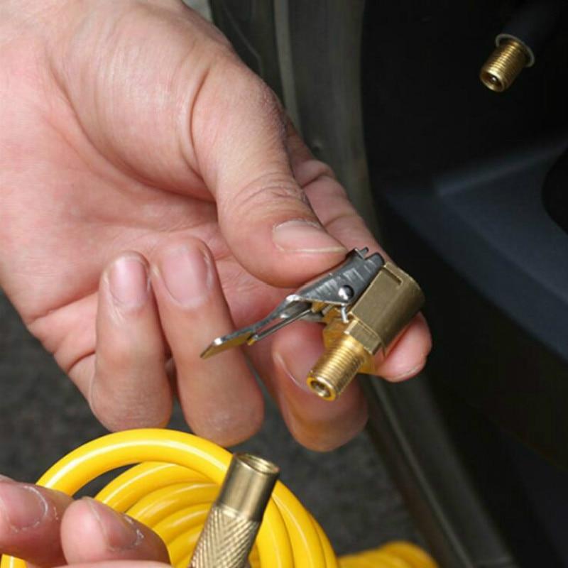 Auto Air Pump Tire Inflator Valve Connector 8mm Chuck Clip Car Truck Tyre Car Open Brass Stem Tire Auto Repair Tool Valve Clip