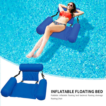 Summer Inflatable Foldable Floating Row Beach Swimming Pool Water Hammock Floating Beach Chair Lounger Mat Seatings 3