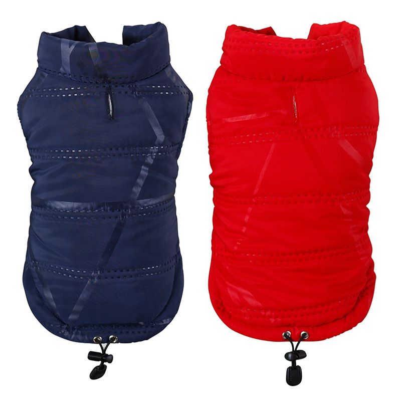 Pet Dogs Winter Clothes Cat Padded Vest Coat Pup Warm Down Fleece Polyester Jacket Chihuahua French Bulldog Waterproof Clothes in Dog Coats Jackets from Home Garden