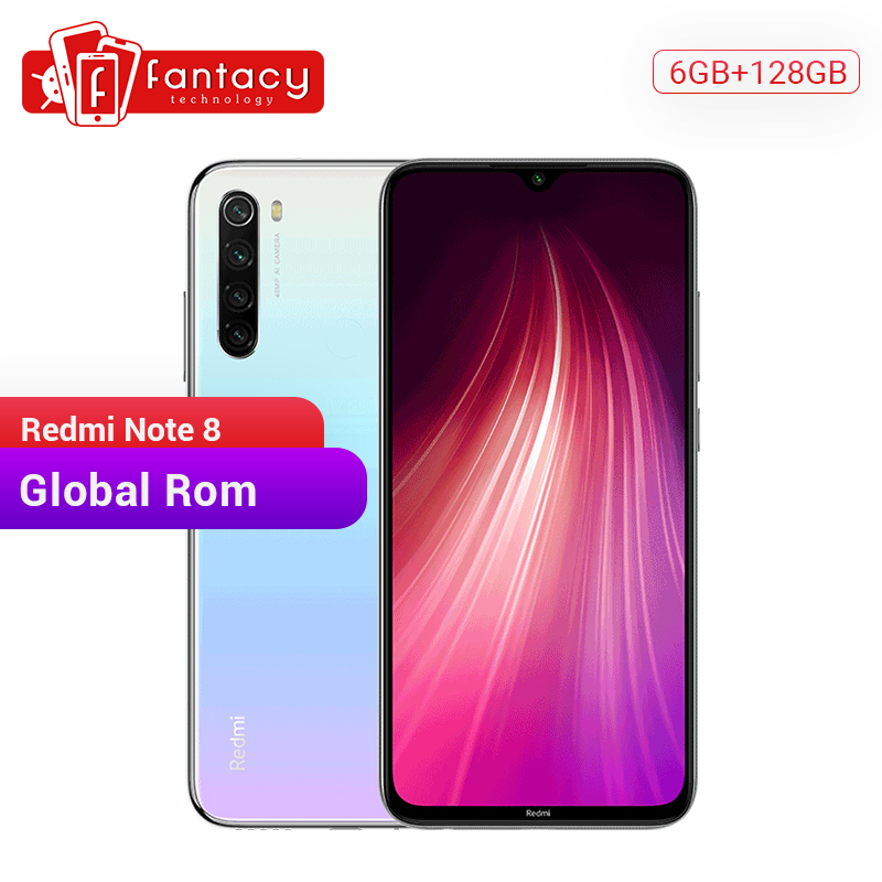 Global ROM Redmi Note 8 6GB 128GB 48MP Quad Cameras Smartphone Snapdragon 665 Octa Core 6.3