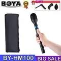 BOYA BY HM100 Omni Directional Handheld Dynamisches Mikrofon für ENG Interview XLR Ausgang Stecker Durable aluminium legierung körper