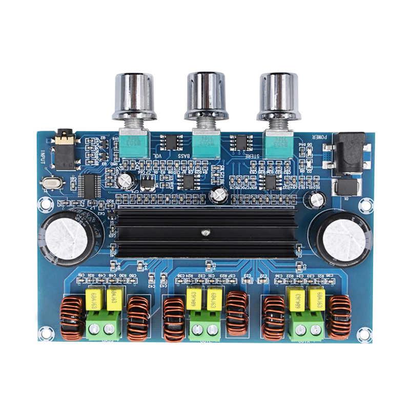 TPA3116 디지털 전력 증폭기 보드 2.1 채널 스테레오 클래스 D 홈 스피커 Bluetooth 5.0 AUX 용 오디오 수신기 증폭기