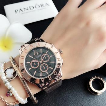 Luksusowa marka zegarki kwarcowe zegarki damskie zegarki srebrne zegarki damskie zegarek zegar ze stali nierdzewnej Casual P36 tanie i dobre opinie QUARTZ Bransoletka zapięcie Wolfram stali 3Bar Luxury ru PANDORA