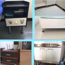 12 xbed riser mesa levanta móveis pés quadrados plinth piso protetor 11.5cm