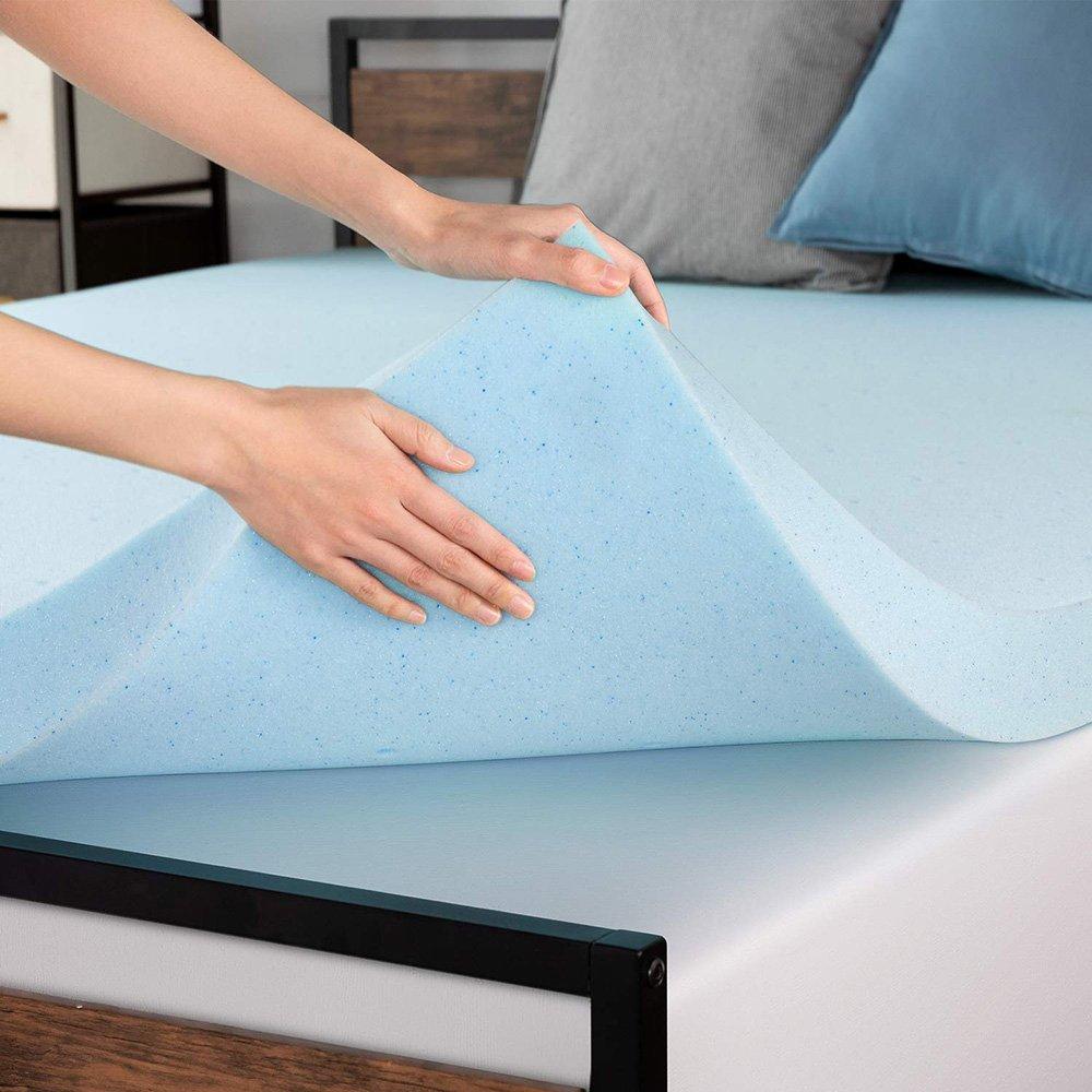 4 Inch Bamboo/Gel Mattress Topper Memory Foam Mattress Pad Bed Topper