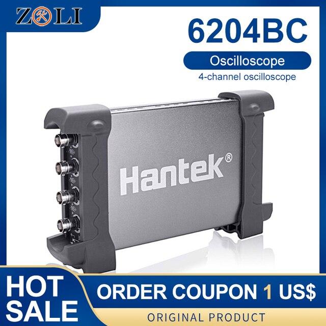 ملتقط الذبذبات الرقمي 200 MHZ 1GSa/s 4CH Windows10/8/7 مع واجهة USB التحقيق يده Hantek اتوماتور 6204BC