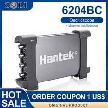 Oscyloskop cyfrowy 200 MHZ 1GSa/s 4CH Windows10/8/7 z interfejsem USB sonda ręczna Hantek atomitive 6204BC