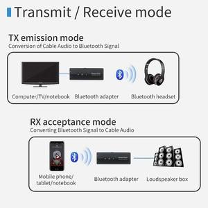 Image 2 - Bluetooth 5.0 nadajnik odbiornik 3.5 3.5mm Aux Jack muzyka Stereo Audio bezprzewodowy Adapter do TV PC zestaw samochodowy z przycisk sterowania