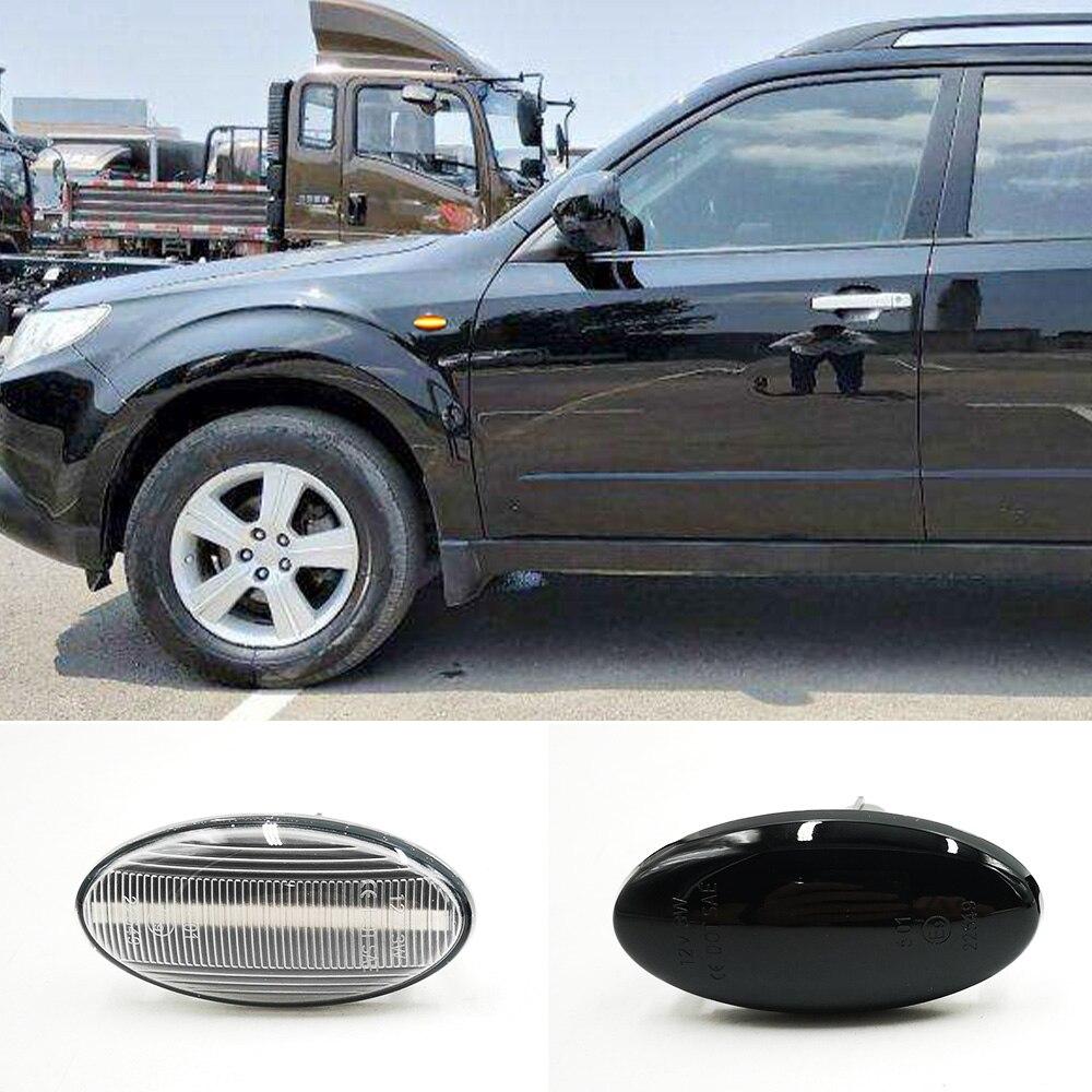 1 пара для Subaru Forester 2008-2019, Динамический светодиодный боковой маркер, указатель поворота, ретранслятор светильник вая лампа
