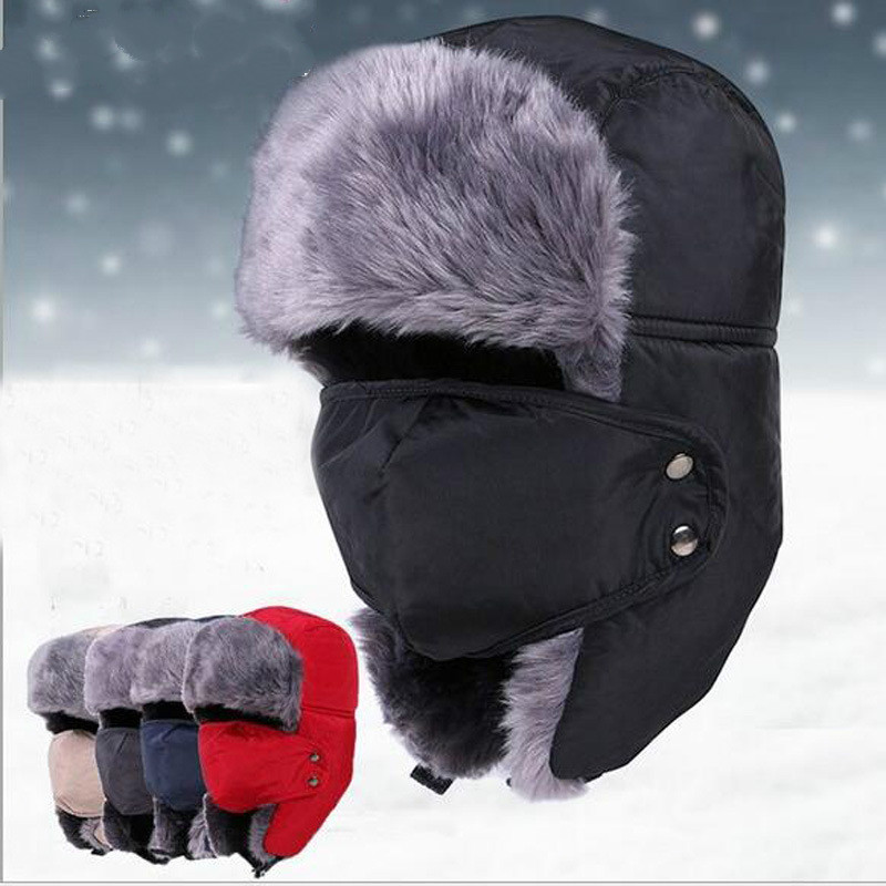 2019 New Winter Men's And Women's Fashion Earmuffs Plus Velvet Thickening Lei Feng Hat Outdoor Travel Warm Hats
