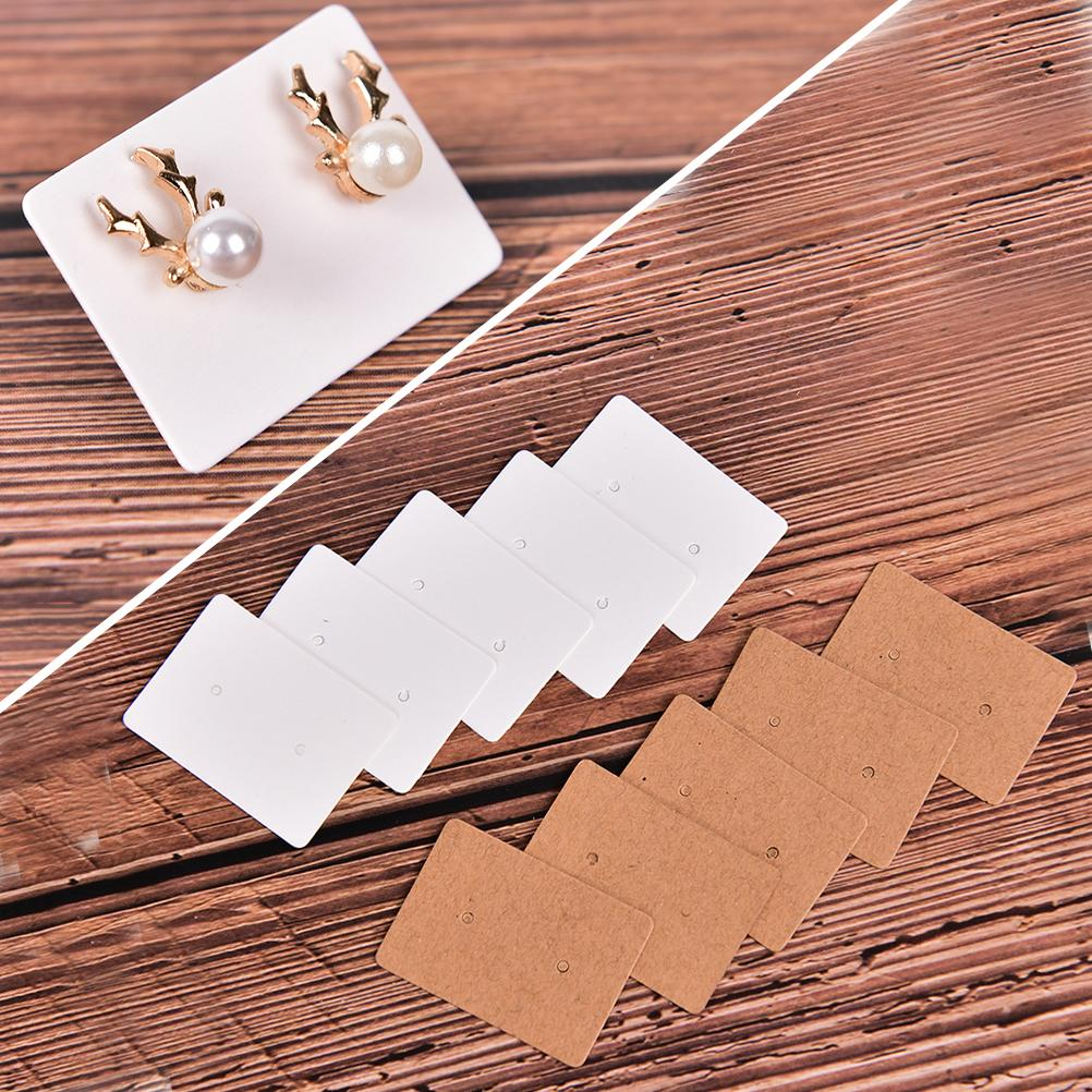 100 Pcs Jewelry Display Cards Shining Paper Hang CardsEar Studs Hanging Display Holder Marking Garment Prices Label Tags