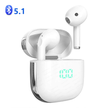 Bluetooth 5.1 אוזניות אלחוטי אוזניות סטריאו ספורט אלחוטי אוזניות אוזניות אוזניות עם LED כוח תצוגת עבור כל טלפונים