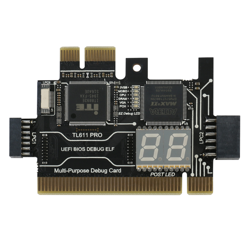 Audacious Multifunction Diagnostic Card Tl611 Pro Pci-e Lpc Motherboard Diagnostic Test For Laptop Computer Mobile Phone To Have A Unique National Style