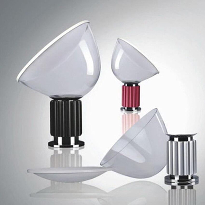 북유럽 led 유리 레이더 테이블 조명 조명 포스트 모던 거실 램프 실내 장식 연구 침실 머리맡 고정 전등