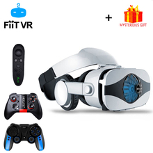 цена Fiit 5F Casque Helmet 3D VR Glasses Virtual Reality Headset For iPhone Android Smartphone Smart Phone Goggles Lens Lunette 3 D