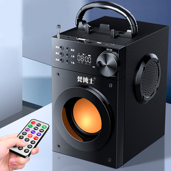 New Bluetooth Speakers 3600mAh Portable Desk Computer Speaker 3D Surround Stereo Bass Louderspeaker Support FM Radio TF AUX