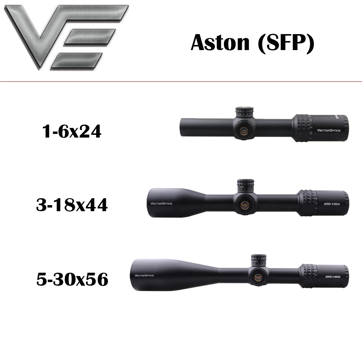 Vector Optics Aston 1-6x24 3-18x44 5-30x56 Top Line Tactical Riflescope For Shooting Fit For Lapua Magnum .338 3006 Rifle Scope