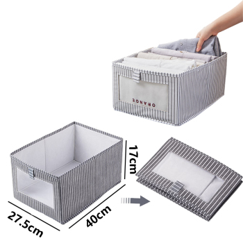 Foldable Underwear Storage Box Household Non Woven Clothing Space-saving Wardrobe Drawer Finishing Container