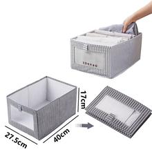 Składany pojemnik do przechowywania bielizny gospodarstwa domowego nie tkane ubrania schowek oszczędność miejsca szafa szuflada wykończenie pojemnika tanie tanio CN (pochodzenie) Oxford 27 5*40*17CM